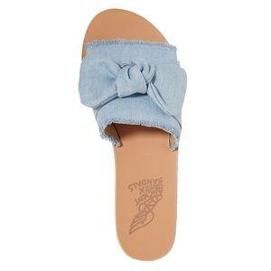 Ancient Greek Denim Sandals NWT